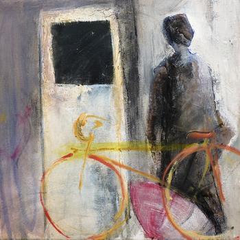 Ποδηλάτης στην βροχή