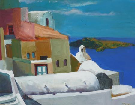 The color of Oia