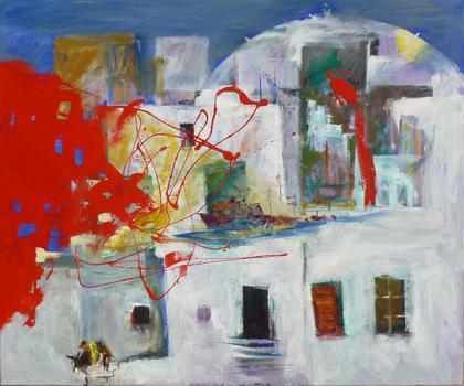 Santorini and color